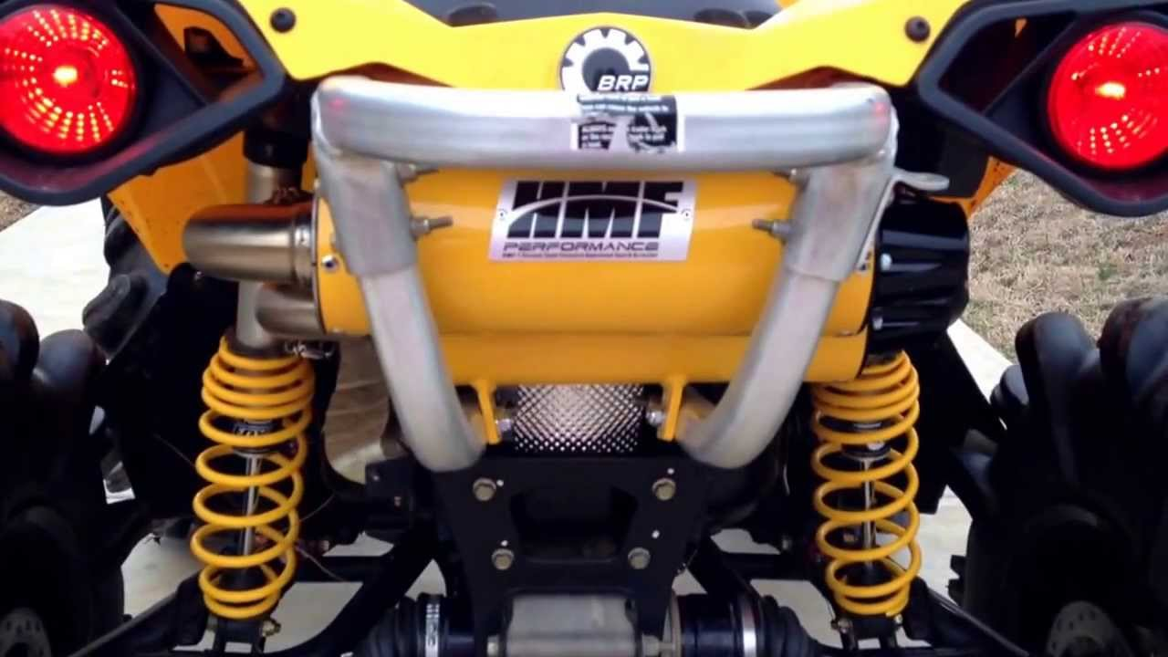 Hmf true dual exhaust with optimizer on 1000 can am ...