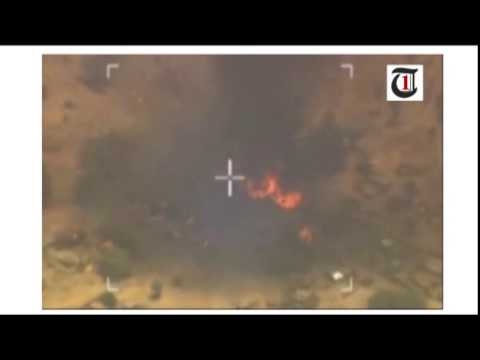 VIDEO: Watch Nigeria Air Force bombs Boko Haram's bunkers