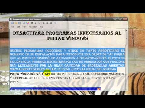 DESACTIVAR PROGRAMAS INNECESARIOS EN EL ARRANQUE EN WINDOWS VISTA Y XP