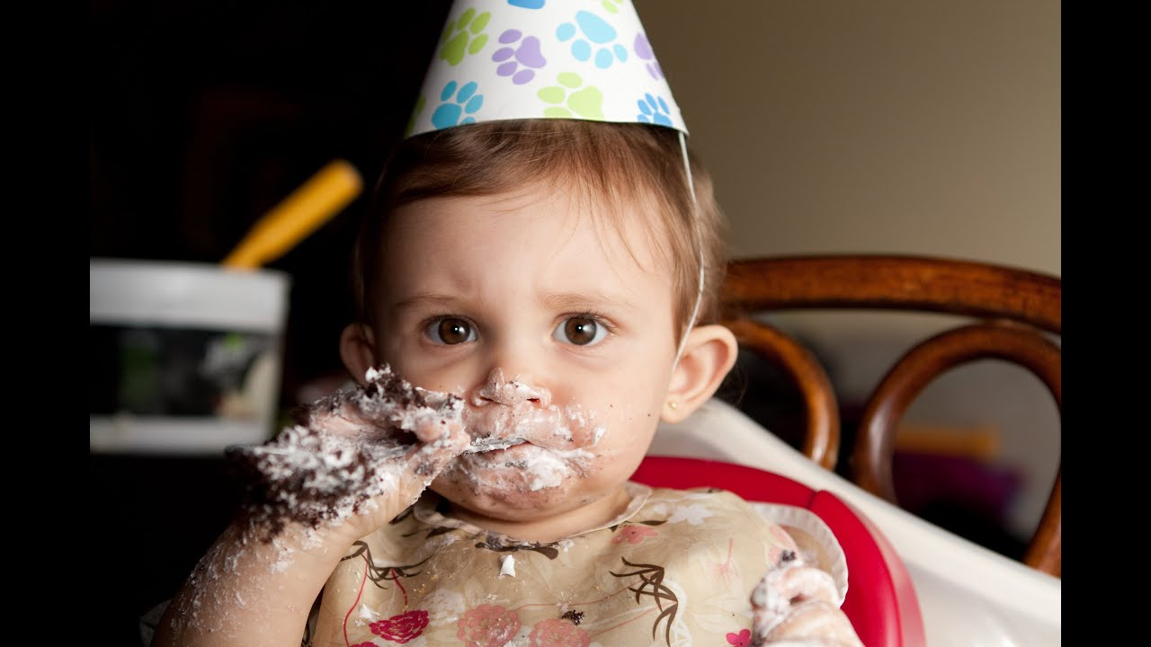 Adorably Messy Babies Eating Birthday Cake - YouTube
