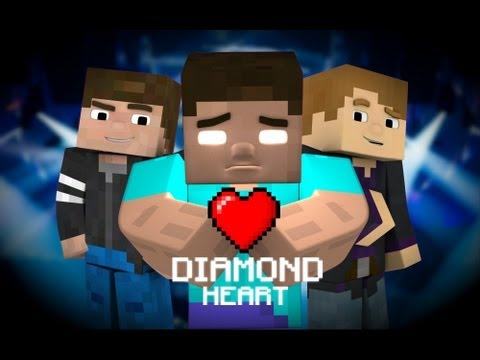♪ diamond Heart (a Minecraft Parody Of Imagine Dragons - Demons) video
