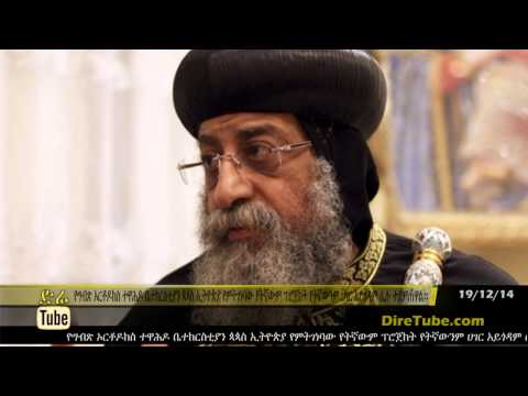 DireTube News Ethiopia's projects won't harm anyone: Egypt's Pope Tawadros II