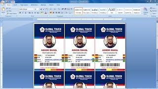 Automatic Id Card Creation in ms word 2019 | Create auto id card Design in ms word | word tutorial