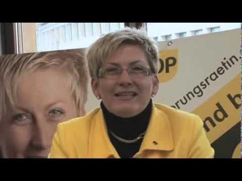 Beatrice Simon startet den Wahlkampf, 2010