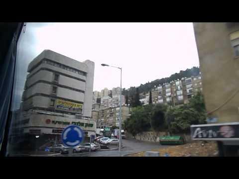 Израиль -- Едем по Хайфе