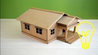 Làm Nhà Bằng Giấy - Tự Làm Ngôi Nhà Bằng Bìa CARTON (house with paper) #2