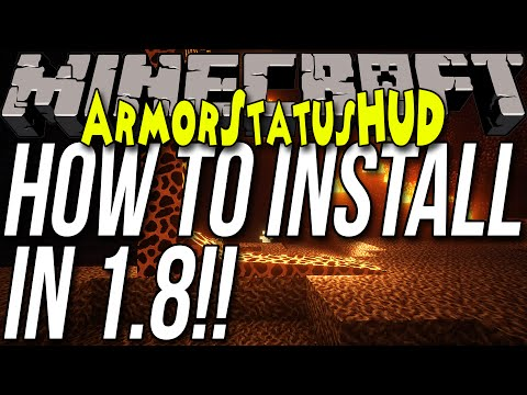 How To Install ArmorStatusHUD In Minecraft 1.8