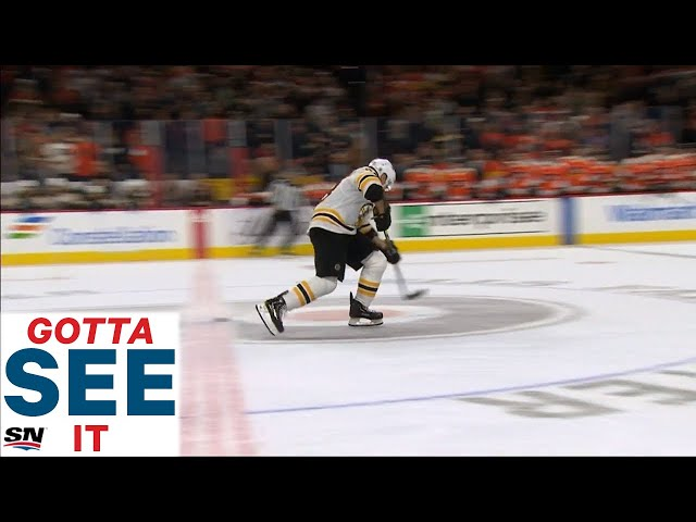 GOTTA SEE IT: Bruins Lose After Brad Marchand Overskates Puck In Shootout attempt thumbnail