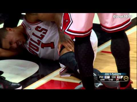 Derrick Rose ACL Knee Injury - 4/28/2012 2012 NBA Playoffs Game 1