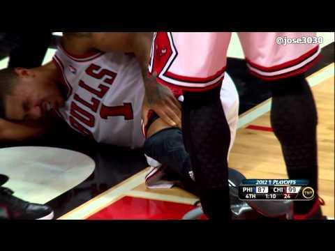 Derrick Rose ACL Knee Injury - 4/28/2012 2012 NBA Playoffs Game 1