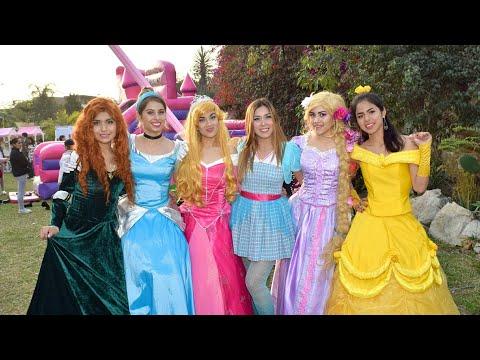 Show Princesas Disney: Rapunzel, Mérida, Cenicienta, Aurora y Bella 👑👠💅🎶