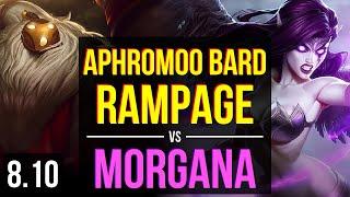 100 aphromoo - BARD vs MORGANA (SUPPORT) ~ Rampage, KDA 13/5/17 ~ NA Master ~ Patch 8.10
