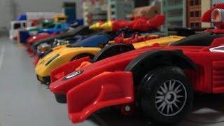 헬로카봇 컨버스터 아이언트와 자동차 변신 장난감 Hello Carbot Sports Car & Truck Robot Toys