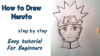 How to draw NARUTO for beginners step by step
