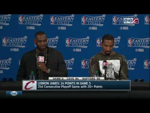 LeBron on Kyrie Irving and Kevin Love's Game 3 struggles