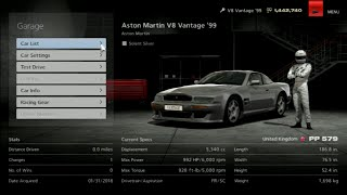 Gran Turismo 6 Like the Wind! Max Speed Test in an Aston Martin V8 Vantage '99! Classic Car!