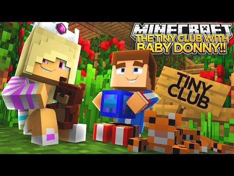 MAGIC TREEHOUSE w/ BABY DONNY!!!- Minecraft - Baby Leah Adventures.