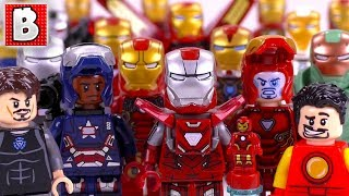 Every LEGO Iron Man Minifigure Ever Made!!! | 2018 Collection Review