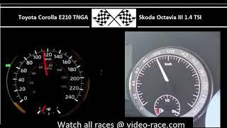 Toyota Corolla E210 TNGA VS. Skoda Octavia III 1.4 TSI - Acceleration 0-100km/h