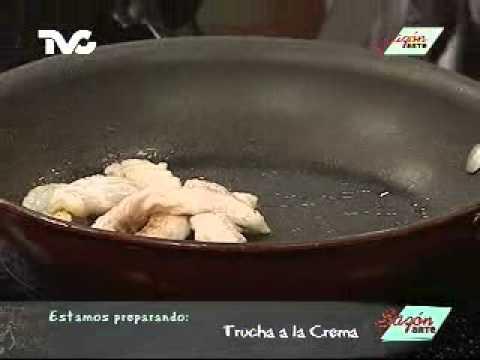 Receta para preparar Trucha a la Crema