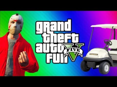 GTA 5 Online Funny Moments Gameplay 3 – Jerking, Golf Cart, Invisible Train Glitch (Multiplayer)