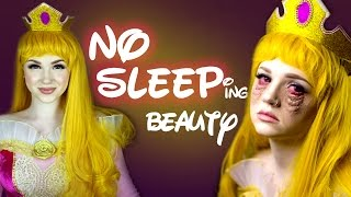 NO SLEEPing Beauty Makeup Tutorial - Glam & Gore Disney Princess