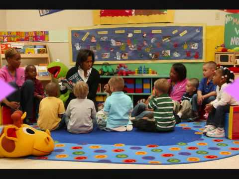 Michelle Obama reads children book to miltary childcare - Reading is Fun Week