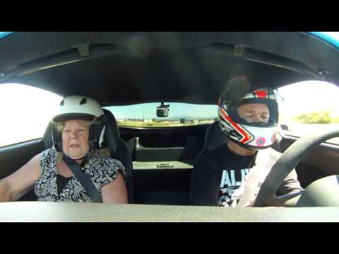 Scaring my Mom at Sonoma Raceway