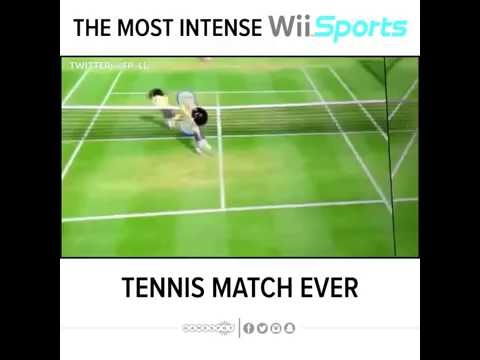 INTENSE Wii Sports Tennis Match!