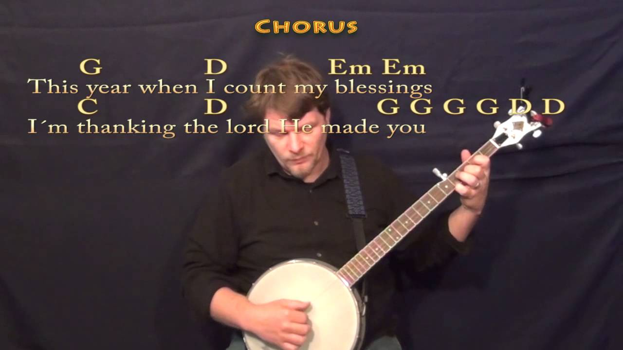 Thanksgiving Prayer (Johnny Cash) Banjo Cover Lesson with Chords/Lyrics - YouTube