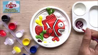 Đồ chơi trẻ em TÔ TƯỢNG CHÚ CÁ HỀ BẰNG MÀU NƯỚC StarKids - Colored sand painting toys (Chim Xinh)