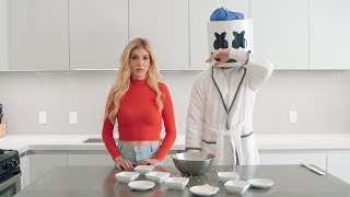 Download Song Rebecca Zamolo Makes Wonton Soup For A Sicko Mode Marshmello | Cooking with Marshmello Free StafaMp3