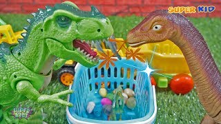 Dinosaur Walking and Laying Eggs Toys Learn Numbers for Kids