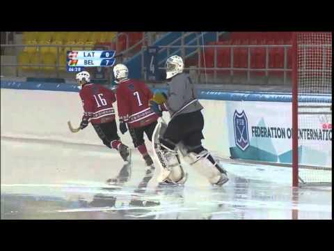 Latvia - Belarus (Bandy world championship, Khabarovsk)