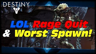 Destiny Quickscope Makes Him Rage Quit, Worst Spawn Is The Best Spawn & Other Funny Moments!