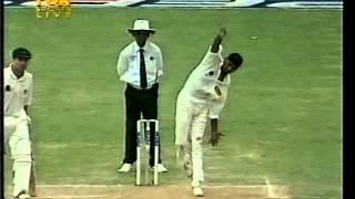 RARE Harbhajan Singh FIRST WICKET IN TEST CRICKET!!! Greg Blewett the victim.