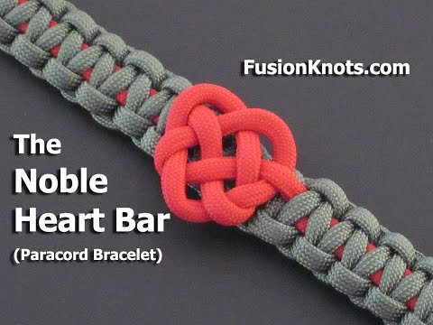 How to Make a Noble Heart Bar (Paracord) Bracelet by TIAT
