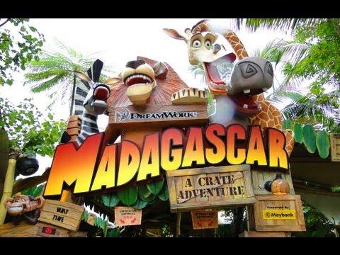 Universal Studios Singapore Madagascar Full Ride HD