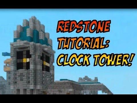 Redstone Tutorial Clock Tower YouTube