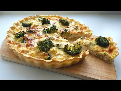 Киш с курицей и брокколи😍сытный вкусный пирог😍 Chicken broccoli pie