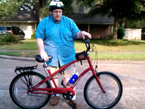 Bikes For Overweight People A fat man and his bike