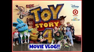 TOY STORY 4 MOVIE VLOG! Target & Disney Store Toy Hunt! Toy Story 4 Build A Bear!