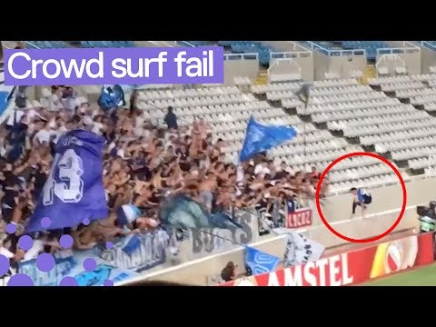 FC Zurich's Benjamin Kololli Crowd Surfing Fail | Where did he go? 😂