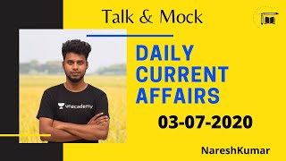Daily CA Live Discussion in Tamil  03-07-2020  Mr.Naresh kumar