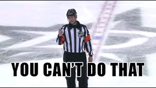 """10/5/13 - Ref Says """"You Can't Do That"""" to Shawn Horcoff"""