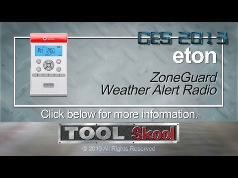 Eton ZoneGuard Weather Alert Radio - Tool Skool - CES 2013