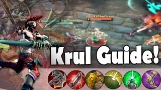 Weapon Power Krul Build Tips! | Vainglory [Krul Guide] Jungle Gameplay