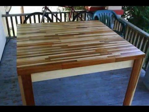 C mo hacer una mesa con retazos de madera youtube for Como hacer una mesa de comedor