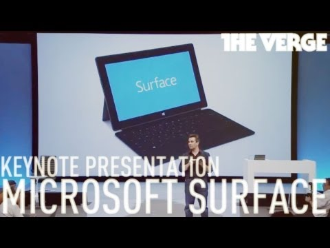 Microsoft Surface Keynote