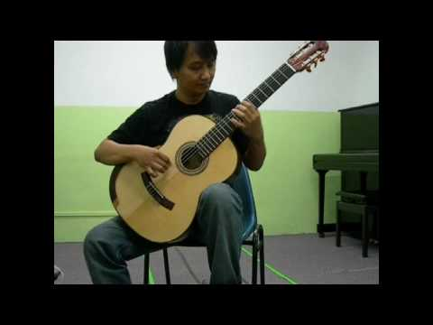 el colibri..sagreras(using hanif palopo guitar indonesian luthier)